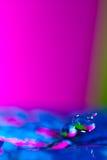 Goccia dell'acqua bassa Fotografia Stock