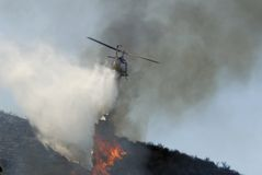 Goccia dell'acqua dell'elicottero Fotografie Stock