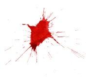 Goccia dell'acquerello rosso Fotografie Stock Libere da Diritti