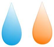 Goccia della benzina e dell'acqua Fotografie Stock Libere da Diritti