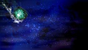 goccia della meteorite paesaggio cosmico illustrazione vettoriale