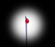 Goccia della siringa dell'insulina Fotografia Stock Libera da Diritti