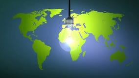 Goccia delle lampadine su terra illustrazione di stock
