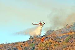 Goccia di acqua dell'elicottero Immagini Stock Libere da Diritti