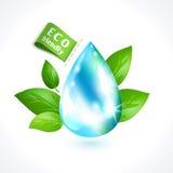 Goccia di acqua di simbolo di ecologia illustrazione vettoriale