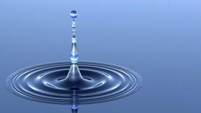 Goccia di acqua ed ondulazioni Fotografia Stock