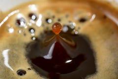 Goccia di caffè Immagini Stock Libere da Diritti