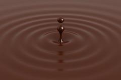 Goccia di cioccolato Immagini Stock