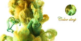 Goccia di colore Fotografia Stock