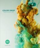 Goccia di colore Fotografia Stock Libera da Diritti