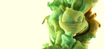 Goccia di colore Sole dell'oro verde dell'erba Fotografia Stock