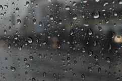 Goccia di pioggia su vetro Fotografia Stock