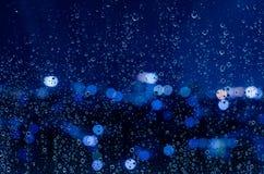 Goccia di pioggia sulla finestra Immagini Stock Libere da Diritti