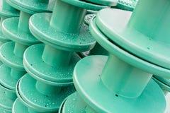 Goccia di pioggia sulla plastica del rotolo Fotografie Stock