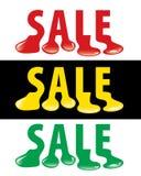 Goccia di vendita Immagini Stock