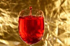 Goccia di vino rosso Fotografie Stock