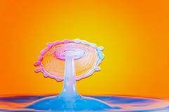 Goccia di Watersplash su goccia Fotografia Stock Libera da Diritti