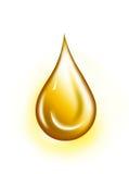 Goccia dorata Fotografia Stock Libera da Diritti