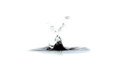 Goccia e spruzzata dell'acqua Fotografia Stock Libera da Diritti