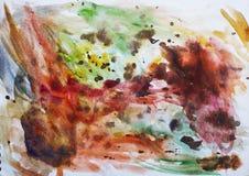 Goccia e spruzzata di dolore di colore di acqua su un di carta - colori differenti illustrazione vettoriale