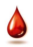 Goccia liquida rossa Fotografie Stock Libere da Diritti