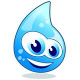 Goccia scintillante di acqua Immagini Stock Libere da Diritti