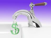 Gocciolamenti dei soldi Immagini Stock Libere da Diritti