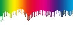 Gocciolamenti del Rainbow Fotografia Stock