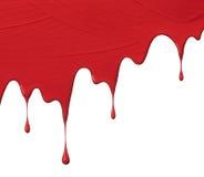 Gocciolamenti rossi della pittura fotografie stock libere da diritti