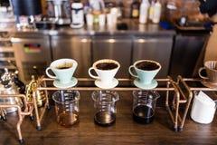 Gocciolamento del caffè fotografia stock libera da diritti