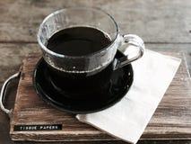 Gocciolamento del caffè fotografia stock