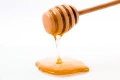 Gocciolamento del miele isolato Fotografia Stock