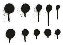 Gocciolamento Dots Abstract Vector Backgrounds Set 16 del dettaglio della pittura di spruzzo alto Immagini Stock Libere da Diritti