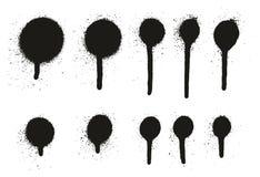 Gocciolamento Dots Abstract Vector Backgrounds Set 15 del dettaglio della pittura di spruzzo alto Immagine Stock