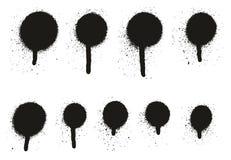 Gocciolamento Dots Abstract Vector Backgrounds Set 14 del dettaglio della pittura di spruzzo alto illustrazione vettoriale