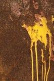 Gocciolamento giallo Fotografie Stock