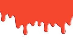 Gocciolamento rosso della vernice Fotografia Stock Libera da Diritti