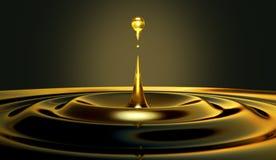 Gocciolina dell'olio immagini stock