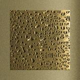 Gocciolina su metallo Fotografia Stock Libera da Diritti