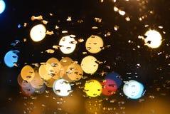 Gocciolina su vetro dell'automobile Fotografia Stock Libera da Diritti