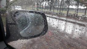 Gocciolina sull'automobile della finestra Fotografia Stock