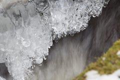 Goccioline del ghiaccio Immagine Stock