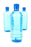 Goccioline delle acque in bottiglia fotografie stock