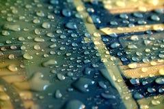 Goccioline di acqua fotografie stock