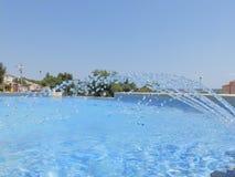 Goccioline di acqua della fontana fotografia stock