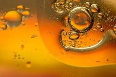 Goccioline di acqua e del petrolio Fotografia Stock