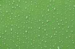 Goccioline di acqua su superficie metallica Immagini Stock Libere da Diritti
