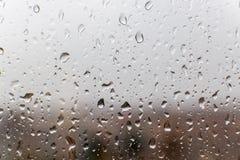 Goccioline di acqua su vetro Fotografia Stock
