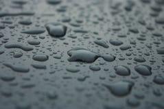 Goccioline di acqua su vetro Fotografie Stock