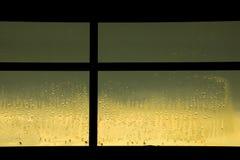 Goccioline di acqua su vetro Fotografia Stock Libera da Diritti